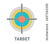 target icon. outline filled...
