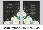beautiful wedding invitation...   Shutterstock .eps vector #1637263636
