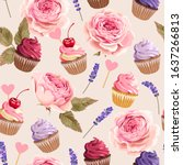 vector seamless pattern with... | Shutterstock .eps vector #1637266813