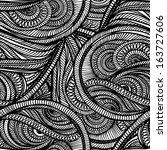 seamless textile monochrome... | Shutterstock .eps vector #163727606