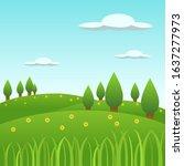 spring landscape background ... | Shutterstock .eps vector #1637277973