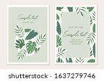 tropical  card template.... | Shutterstock .eps vector #1637279746