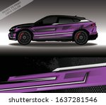 car wrap decal design vector ... | Shutterstock .eps vector #1637281546