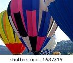hot air balloons beginning... | Shutterstock . vector #1637319