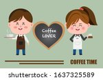 Couple Barista  Waiter  And...