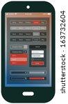 mobile flat design ui template  ...