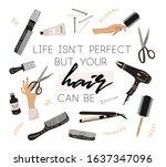 hair and beauty salon card ...   Shutterstock .eps vector #1637347096