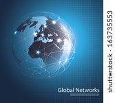 global networks   eps 10 vector ... | Shutterstock .eps vector #163735553