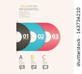 vector colorful 3d banners set. | Shutterstock .eps vector #163736210