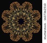 modern decorative floral color...   Shutterstock . vector #1637362510