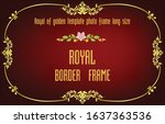 gold border frame with corner... | Shutterstock .eps vector #1637363536