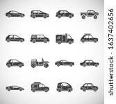 car related icons set on... | Shutterstock .eps vector #1637402656
