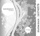 gray modern abstract creative... | Shutterstock .eps vector #163740578
