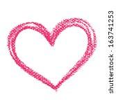 watercolor heart  vector... | Shutterstock .eps vector #163741253