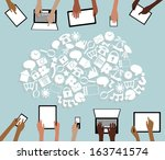 byod bring your own device... | Shutterstock .eps vector #163741574