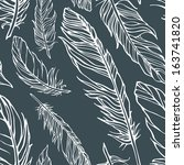vector seamless pattern with... | Shutterstock .eps vector #163741820