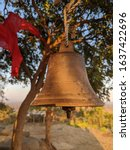 Indian Temple Bell Hanging On...