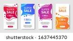 dynamic modern liquid mobile... | Shutterstock .eps vector #1637445370