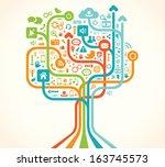 social network tree | Shutterstock .eps vector #163745573