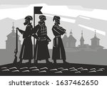 Silhouettes Of Russian Soldiers ...