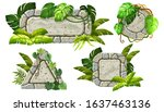 stone boards decoration liana...   Shutterstock .eps vector #1637463136