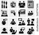 businessman  vector icons set... | Shutterstock .eps vector #163747646