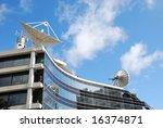 Modern Building On A Backgroun...