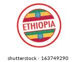 passport style ethiopia rubber...   Shutterstock . vector #163749290