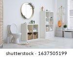 interior of modern bathroom... | Shutterstock . vector #1637505199