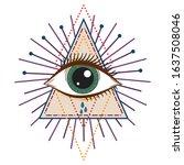 vector illustration of an all... | Shutterstock .eps vector #1637508046