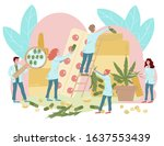 laboratory medicines from... | Shutterstock .eps vector #1637553439