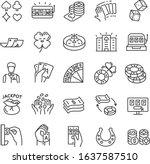 casino  gambling  icon set....   Shutterstock .eps vector #1637587510