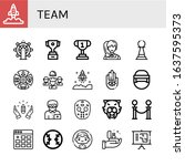 Team Icon Set. Collection Of...