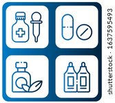 set of antibiotic icons. such... | Shutterstock .eps vector #1637595493