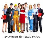 group of business people... | Shutterstock . vector #163759703
