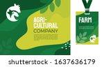 design template for farming ... | Shutterstock .eps vector #1637636179