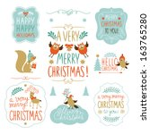 Lettering And Set Of Christmas...