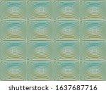 green and blue wavy tilled... | Shutterstock .eps vector #1637687716