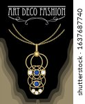 art deco jeweljewel in... | Shutterstock .eps vector #1637687740