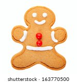 a freshly baked and decorated... | Shutterstock . vector #163770500