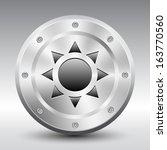sun symbol icon on silver...   Shutterstock .eps vector #163770560