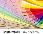 Small photo of Color print of pantone statistics offset scale.