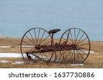 A Vintage Farm Horse Drawn Hay...