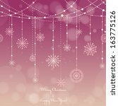 christmas background with... | Shutterstock .eps vector #163775126