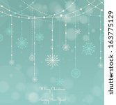 christmas background with... | Shutterstock .eps vector #163775129