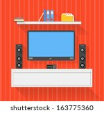 modern home media entertainment ... | Shutterstock .eps vector #163775360