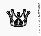crown icon vector illustration...   Shutterstock .eps vector #1637760286
