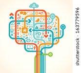 social network tree   Shutterstock .eps vector #163779596