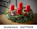 Advent Wreath Of Twigs With...