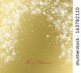 elegant christmas background... | Shutterstock . vector #163782110